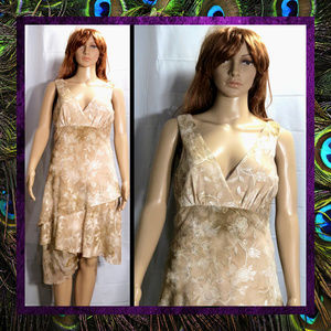 Silky Brocade Dress by Connected Apparel #041